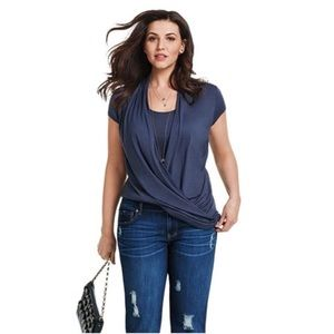 CAbi Layered Fickle Tee Style #3058